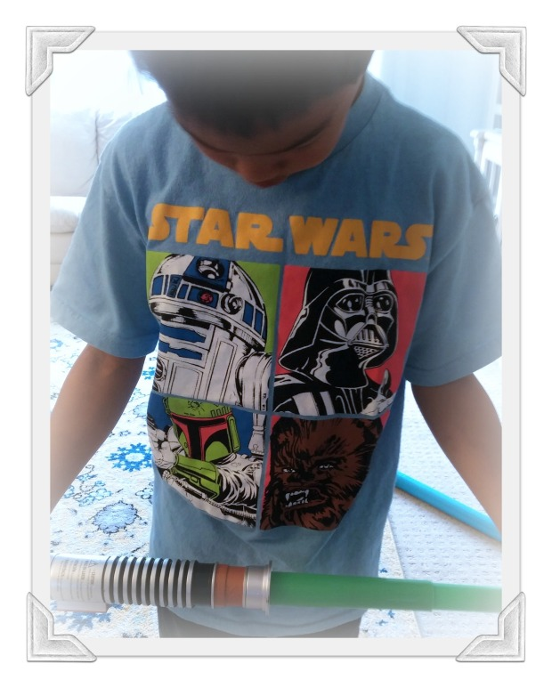 Brayden Star Wars shirt